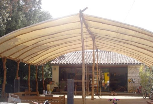 Turkish Tunnel Tent Terrace Cover at Canvas Chic, France