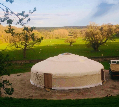 13m Wedding Yurt (made with our tent-making family)