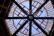 Upper deck of two storey yurt