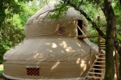 Two storey yurt, france