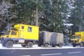 Overland trucks in winter