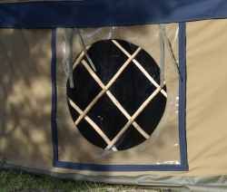 Opening yurt window