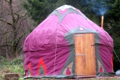 12' Open Fire Afghan Yurt, Wales