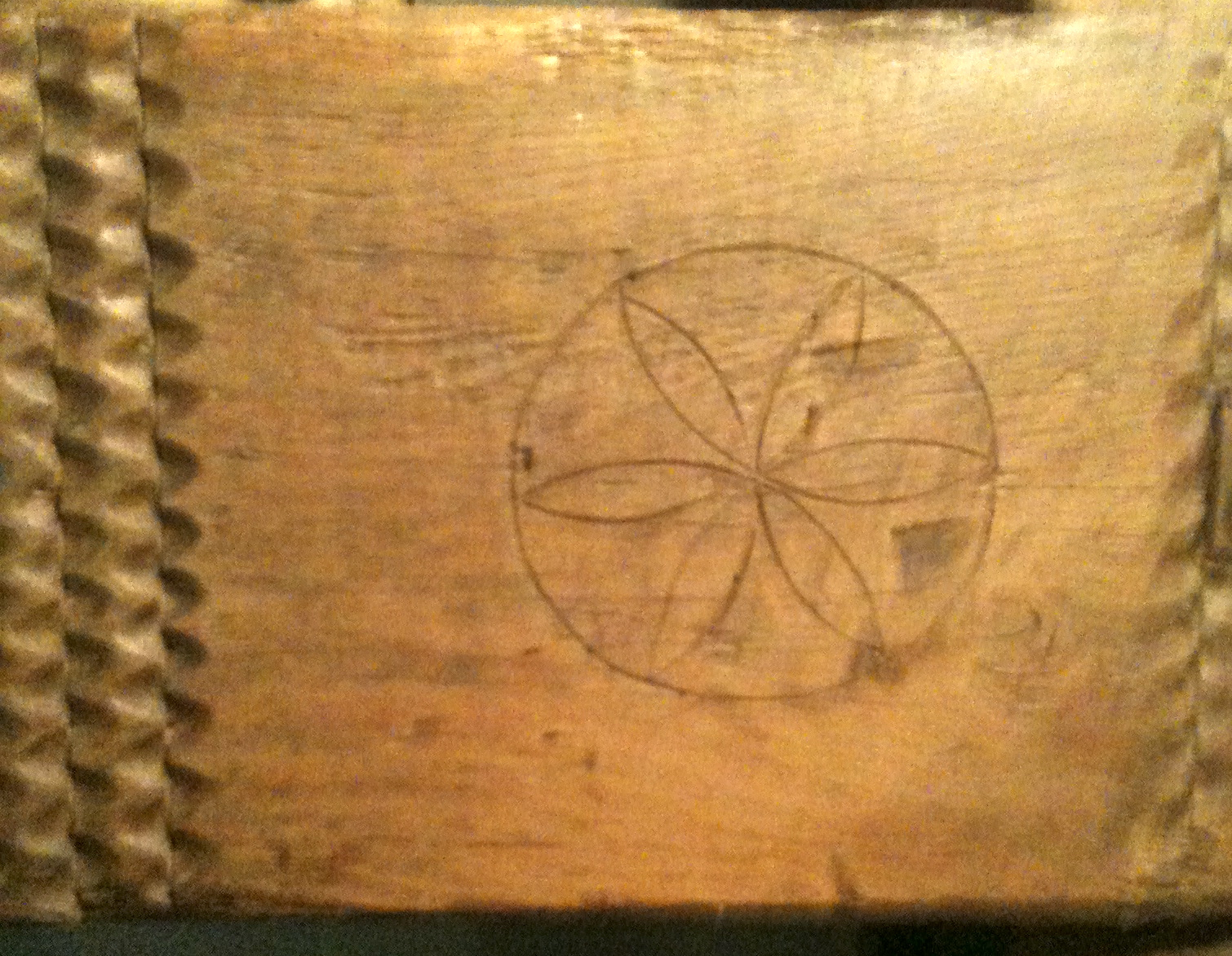 Seed of life on oak beam