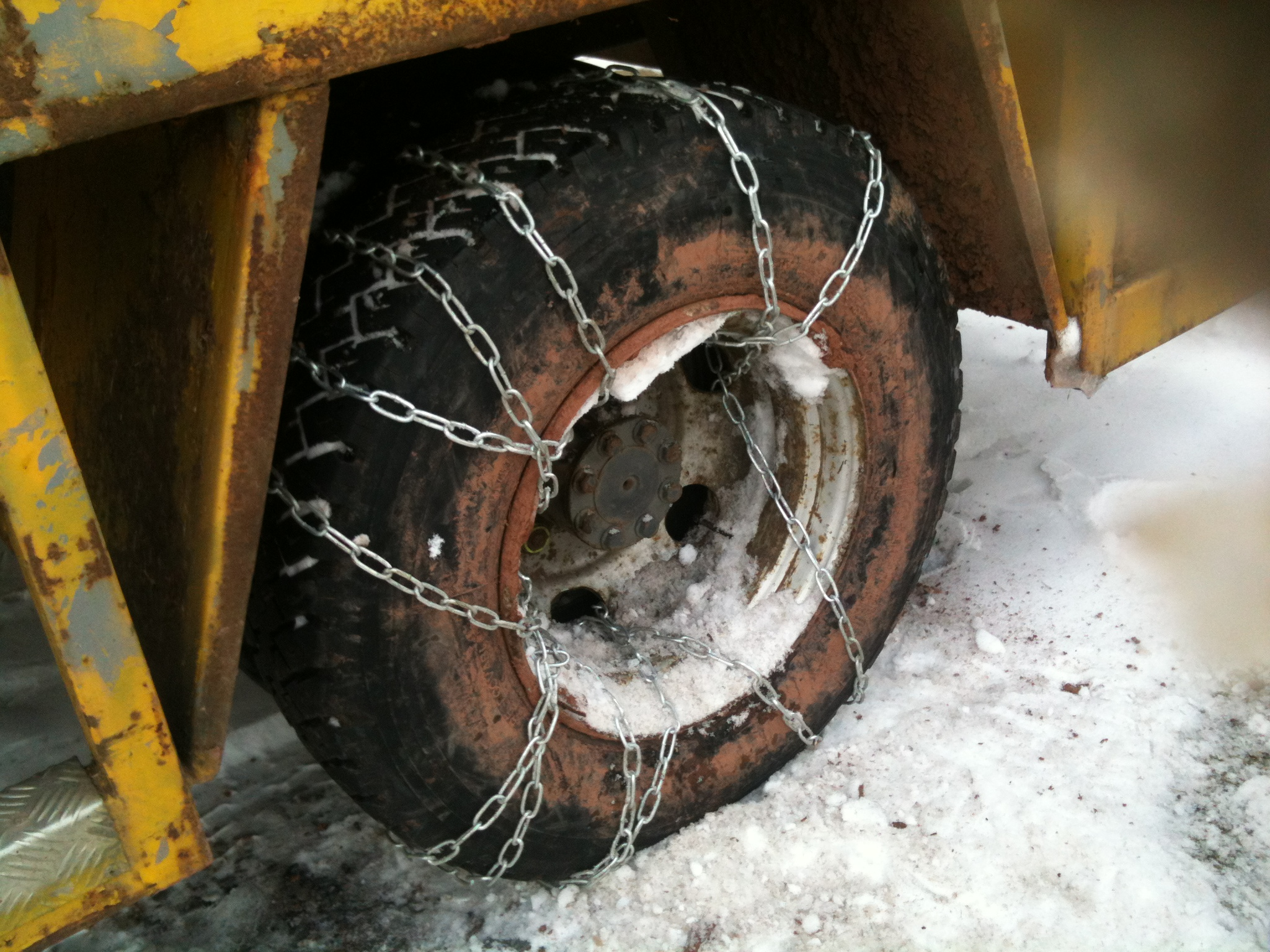 Homemade snowchains