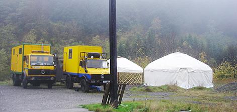 Yurts in Tuscany