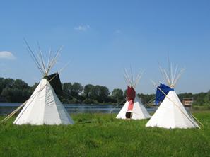 tipi campsite