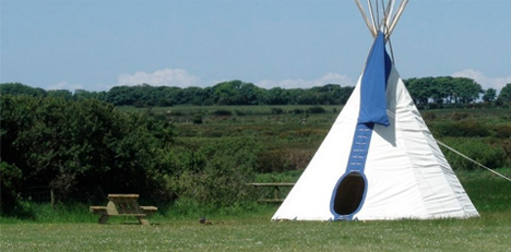 tipi in field