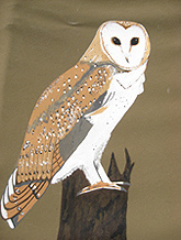 owl painting on tipi