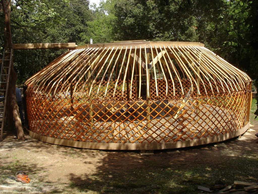 Two Storey yurt bottom deck