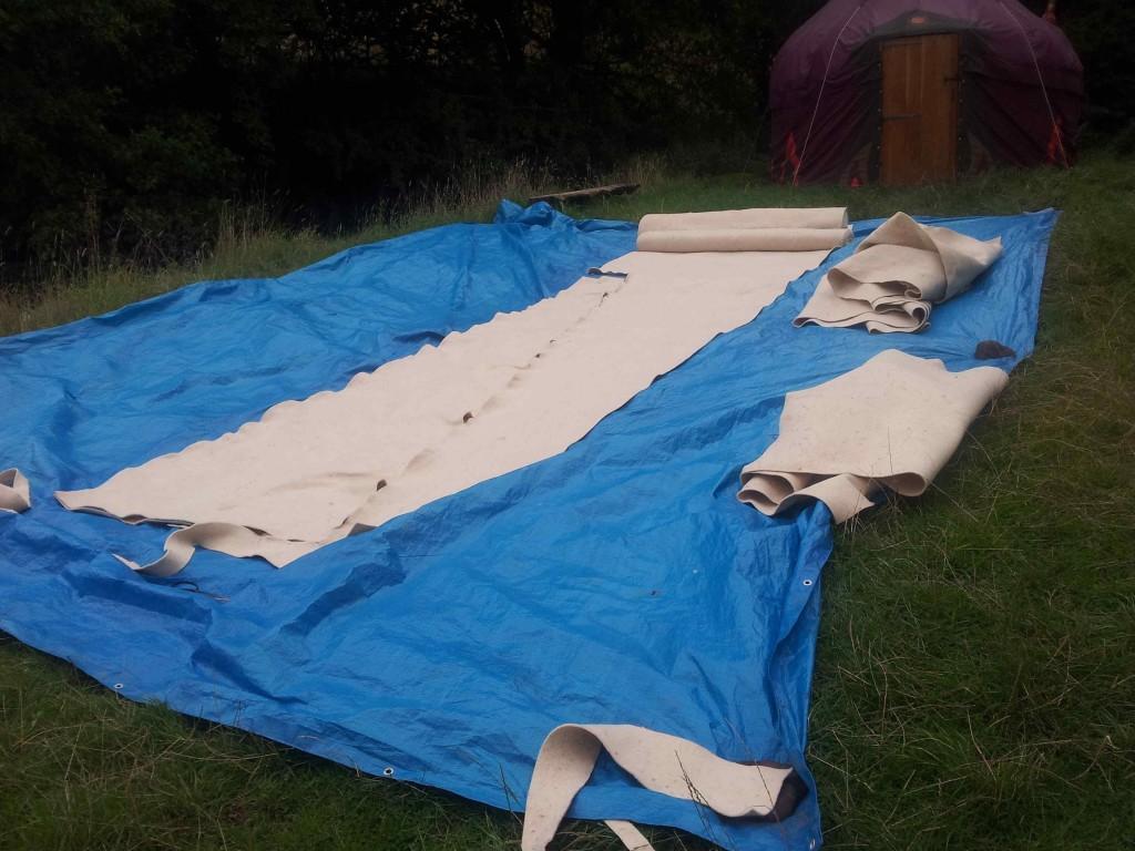 yurt felt lining