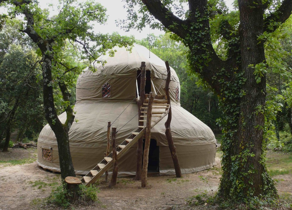 Two storey yurt