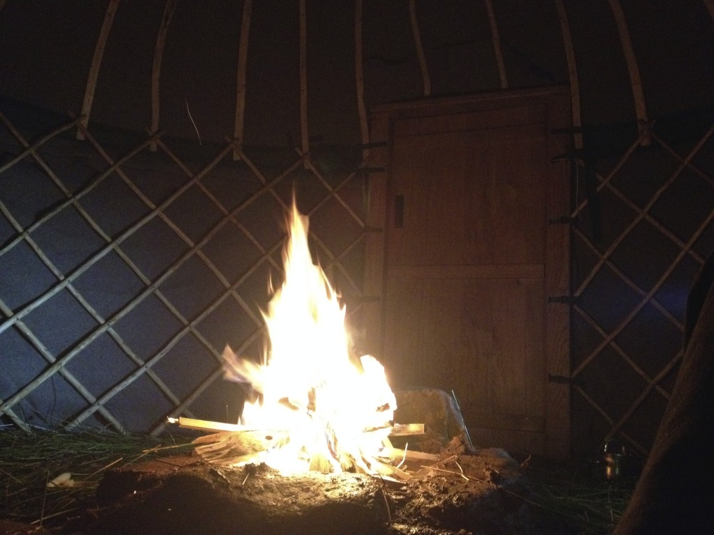 open fire yurt