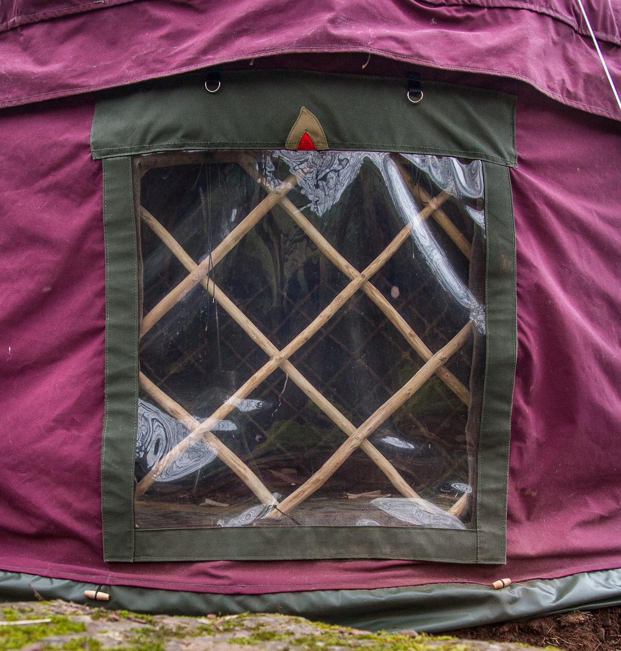 Window in yurt cover
