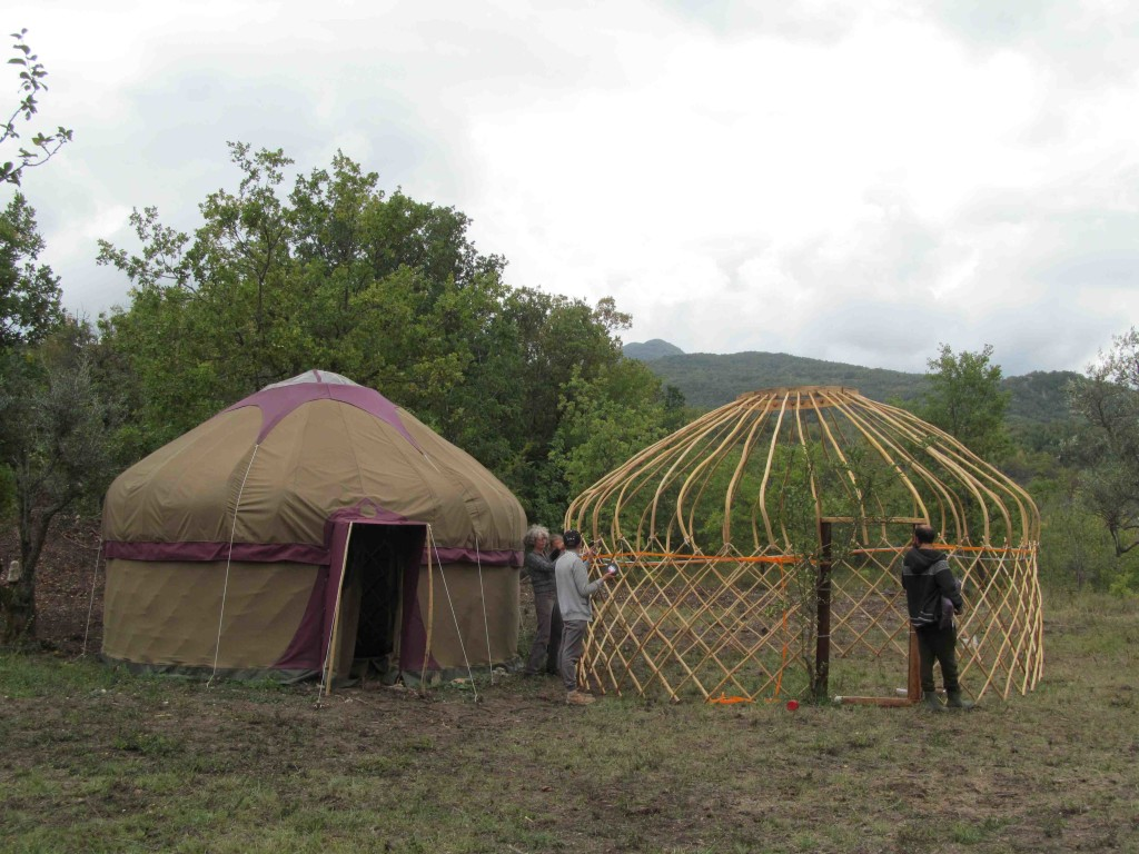 Libra Yurt next to Scorpio Yurt
