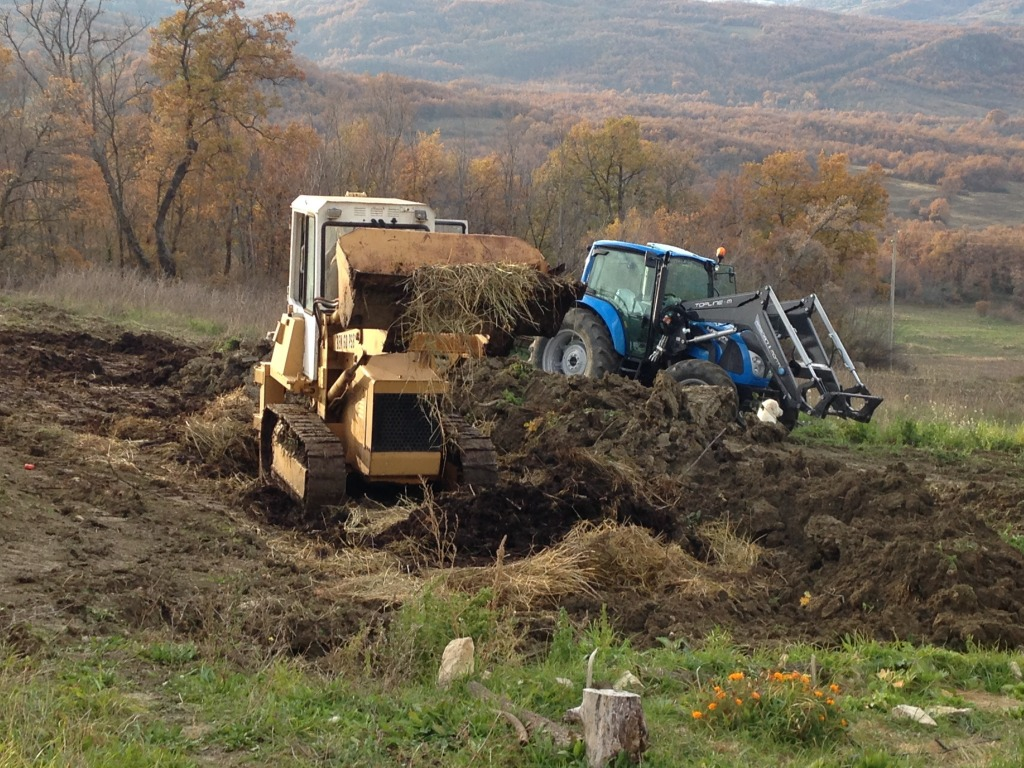Horse Manure being used for gardening