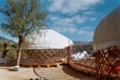 Hoopoe yurt hotel Detail (Frames by Yurtshop)