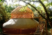 Two storey yurt, France