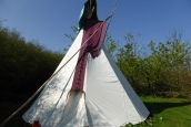 With Tipi Hat: Anglesey Tipi Holidays