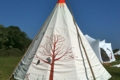 Painted Tipi, Cornish Tipi Holidays