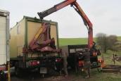 Lifting crane with crane. Merc 1820 + 1823.