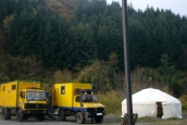 4x4 trucks with yurt in Tuscany