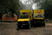 Overland trucks and yurt In France