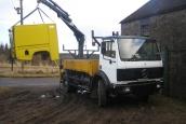 Mercedes 1717 4x4 crane truck