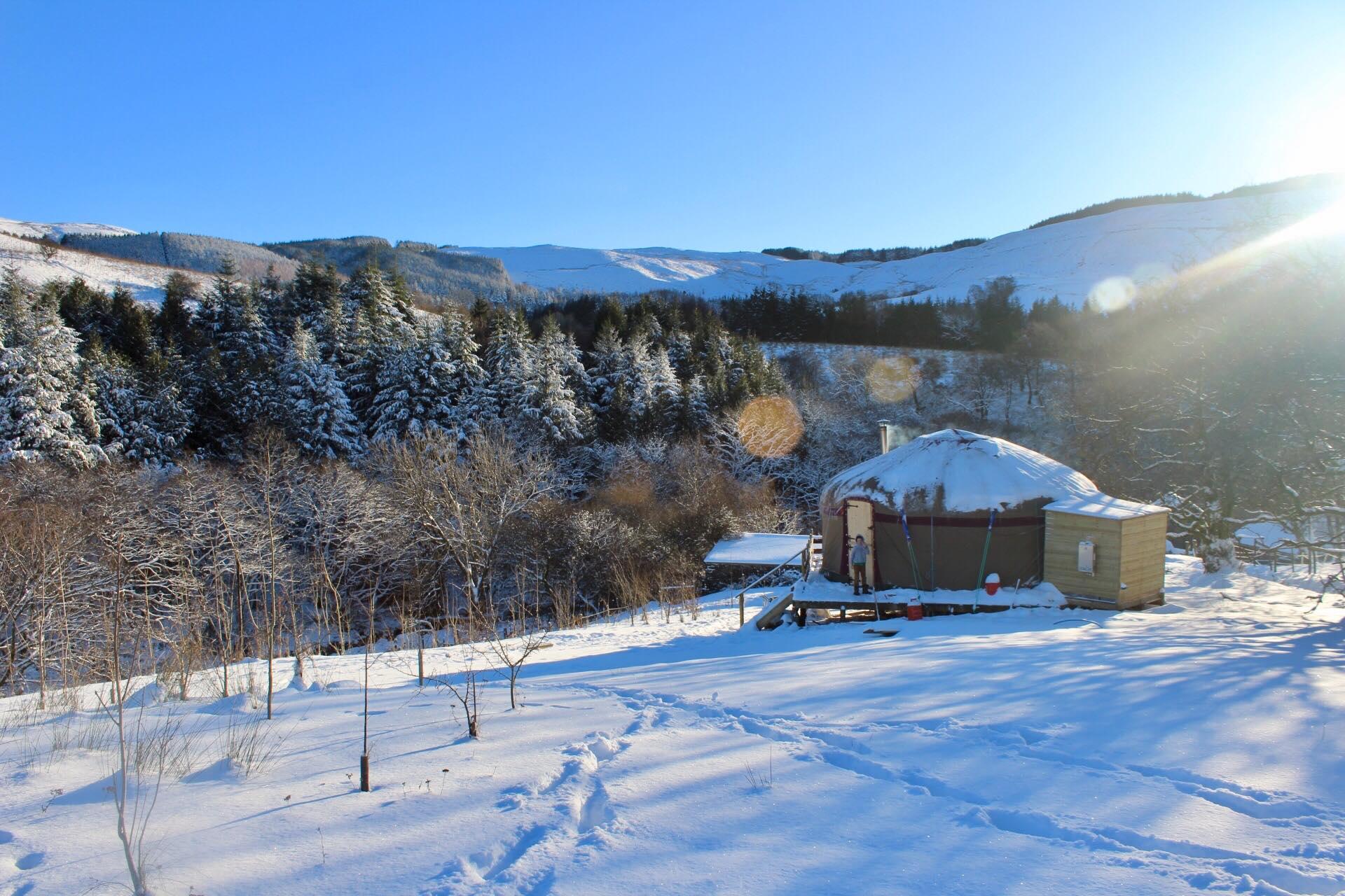 22' Yurt for the Wonderful Wheeler Family, Powys