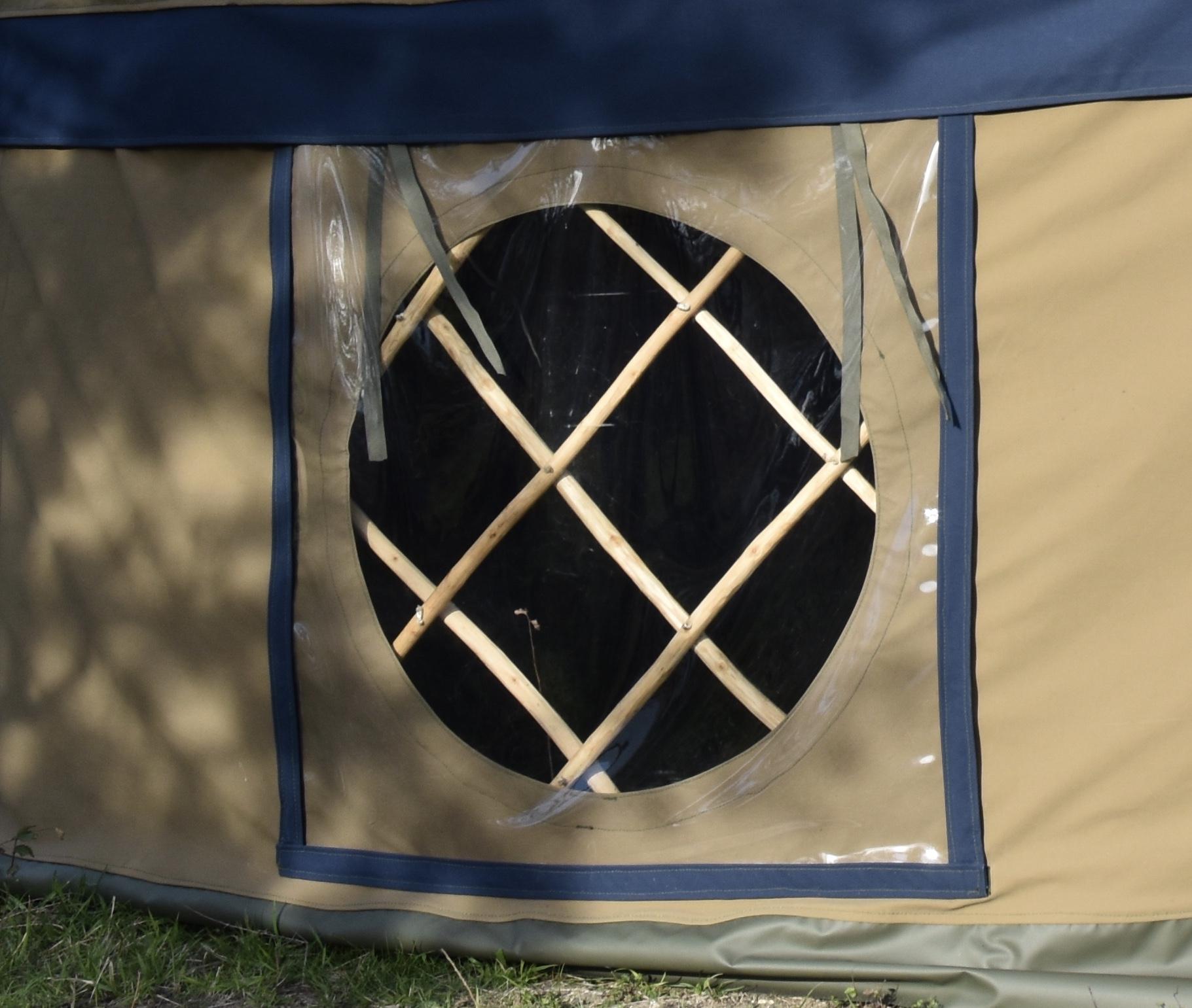 Opening yurt window