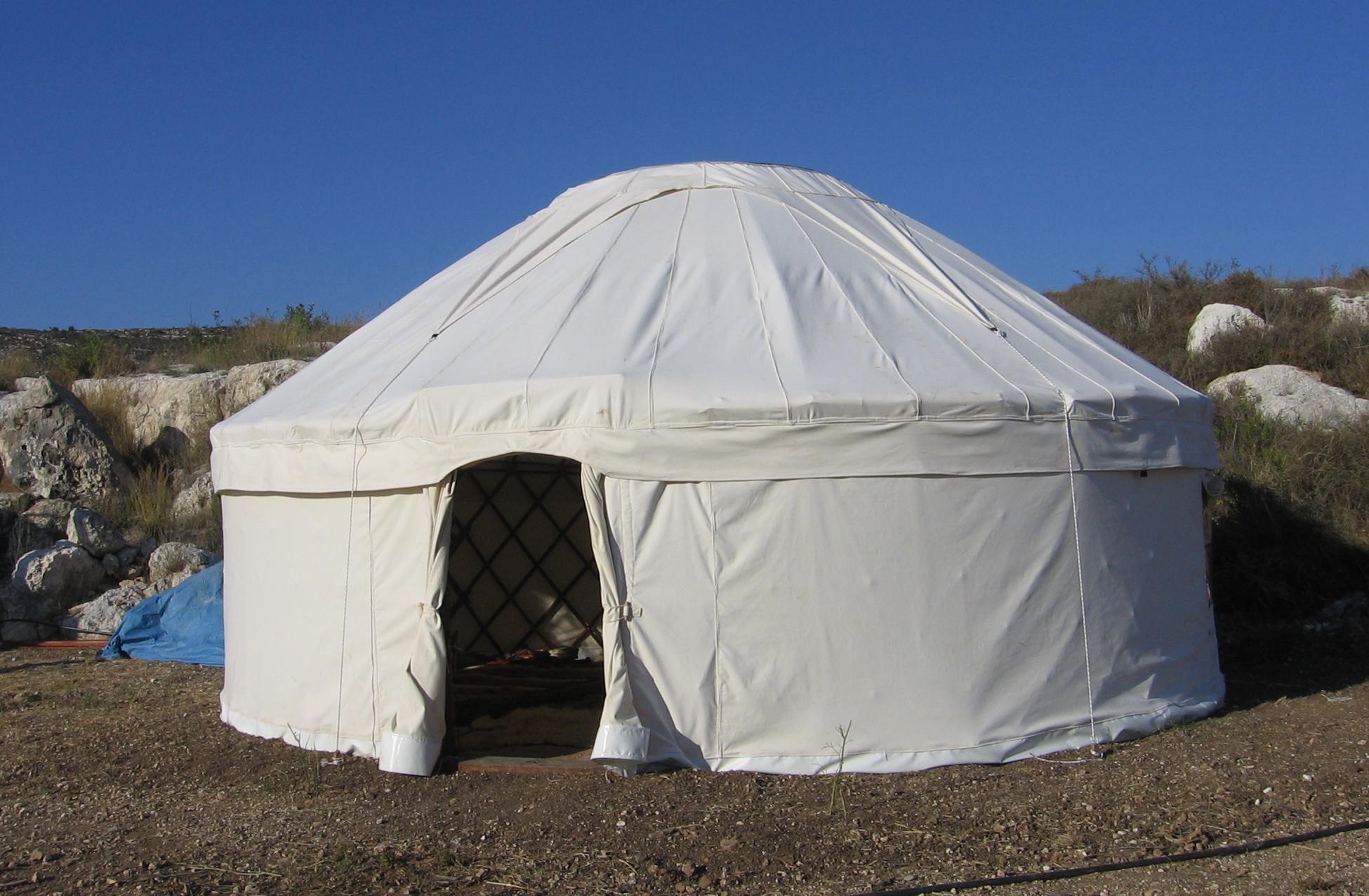 16' Yurt with Canvas Doors, Israel
