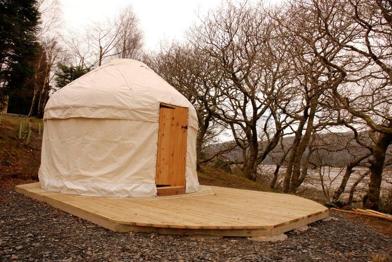 12' yurt, Graig Wen, Wales