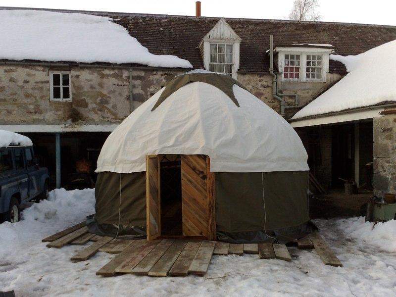 16' Yurt Cover, Inshriach House, Scotland