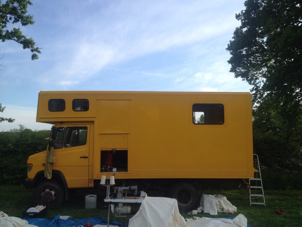 overland truck and yurt covers making