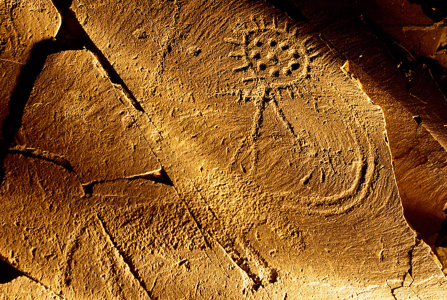 Fertility Bull & Sun God petroglyph, Tamghali, Kazakhstan