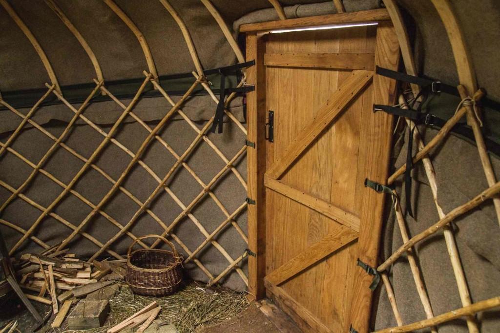 yurt felt lining inside