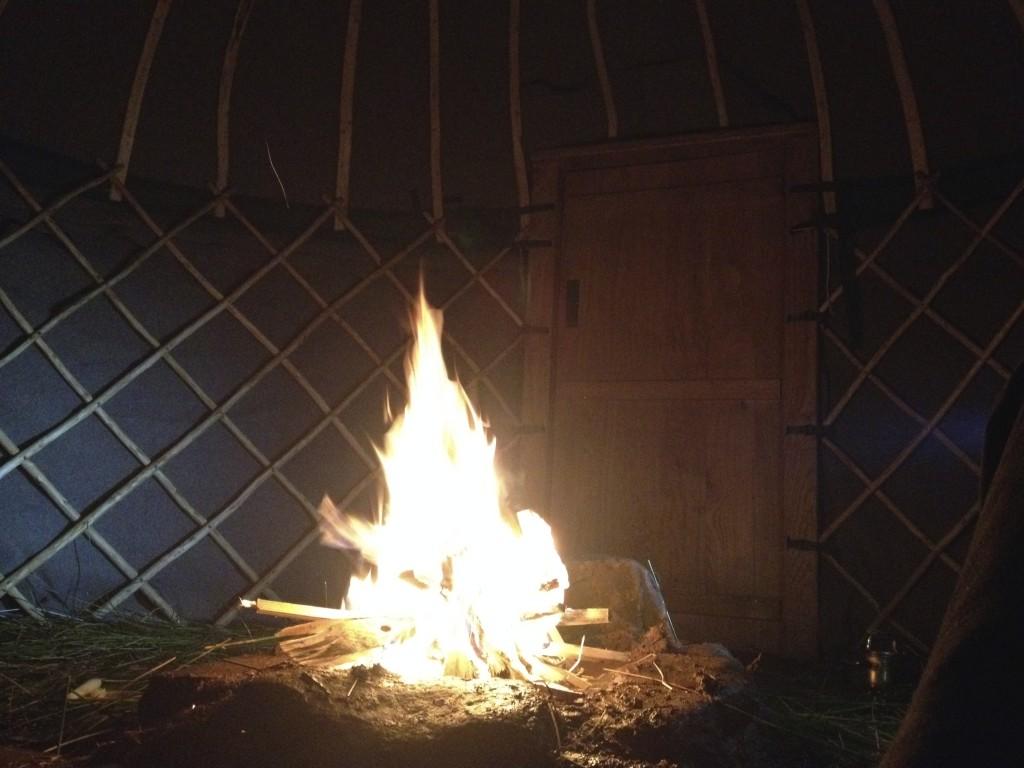 open fire yurt