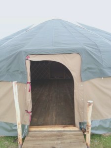 yurt canvas doors