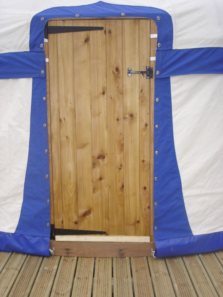 Yurt wooden door