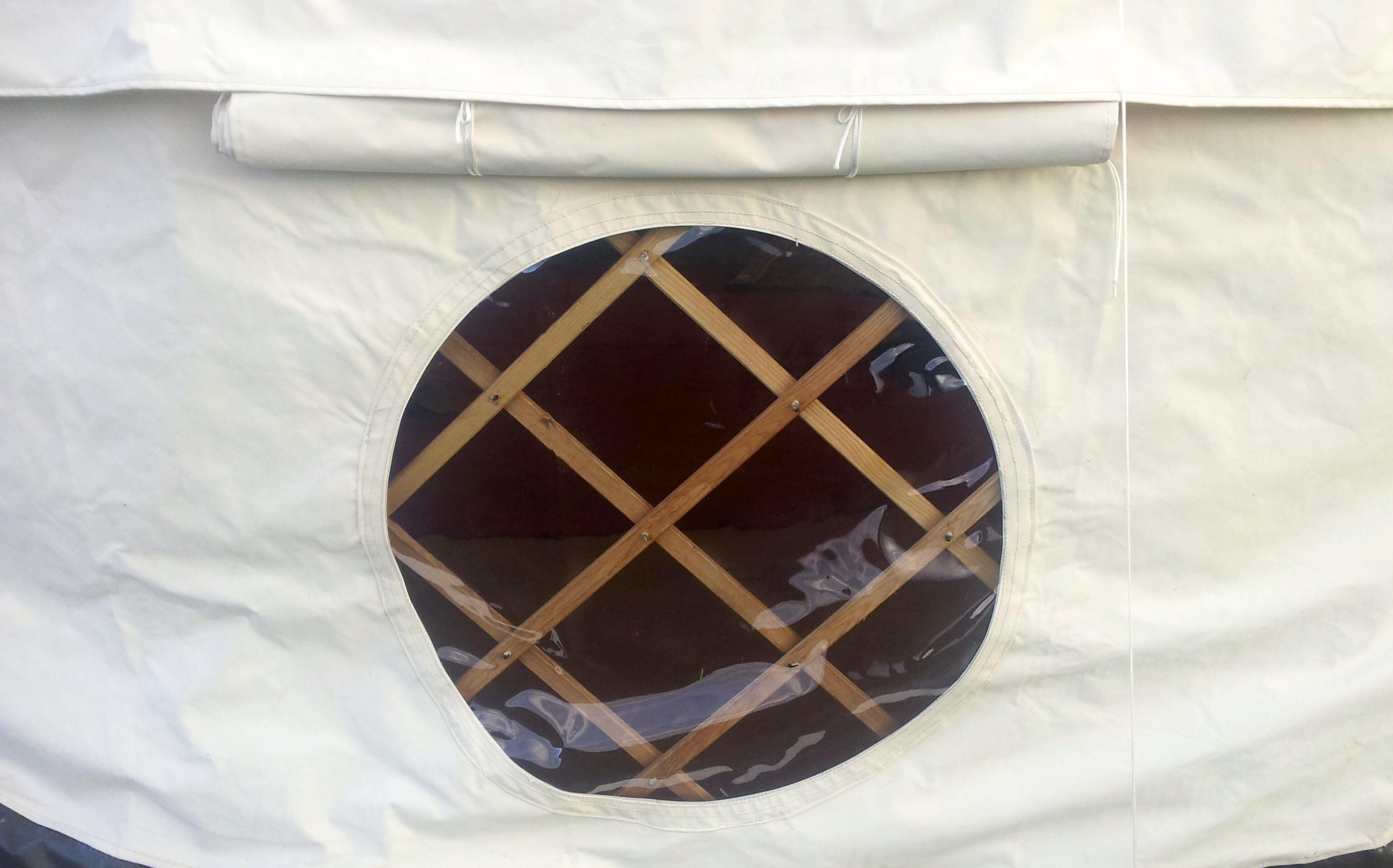 Round yurt window