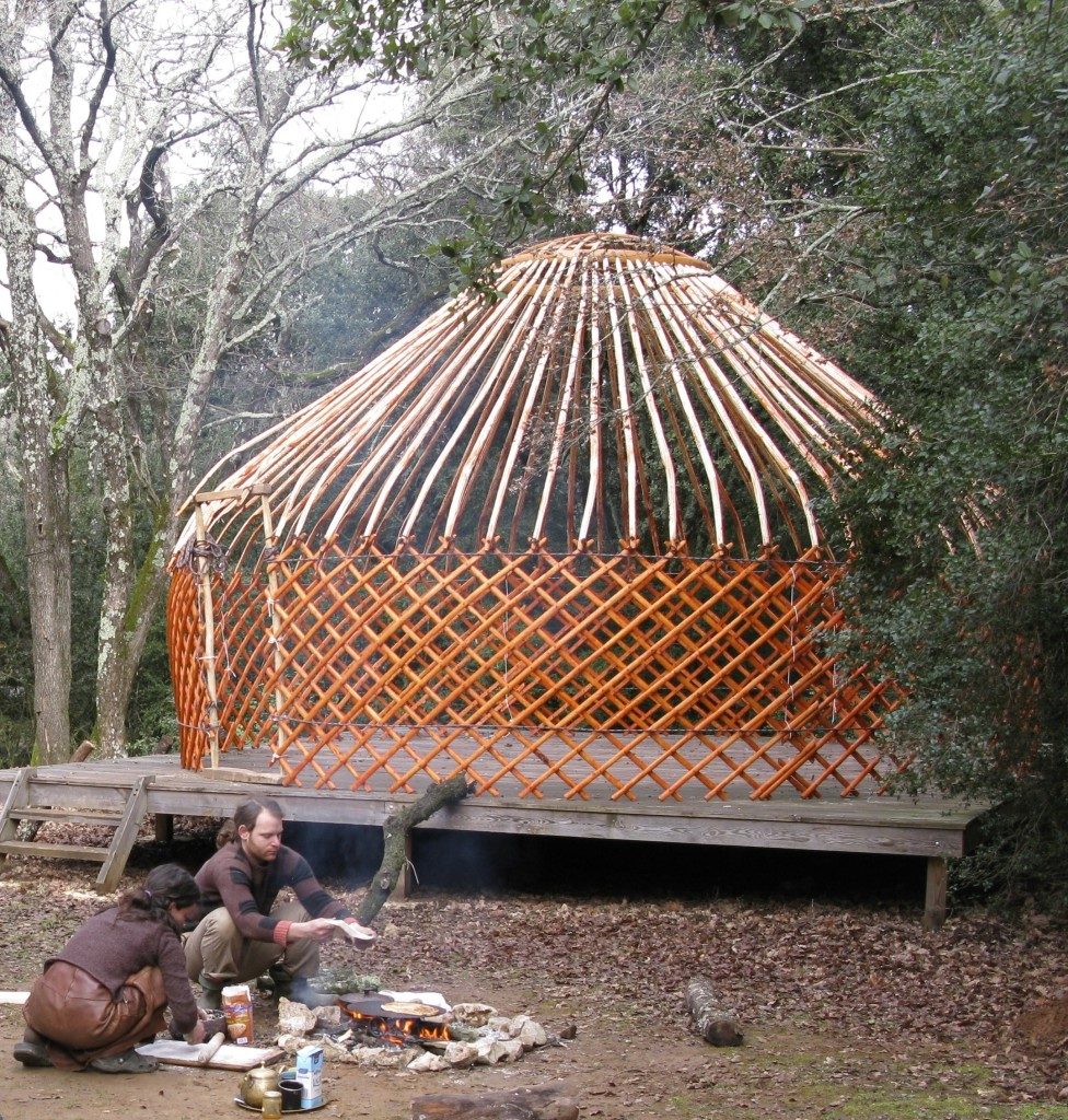 Yurt fireside cooking
